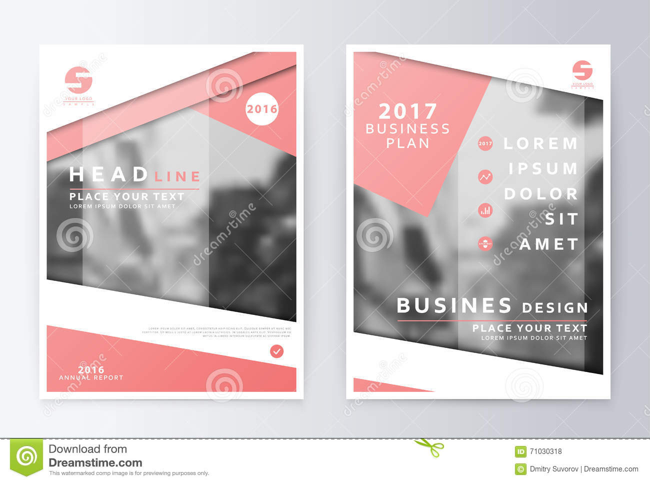 Annual Report Brochure Business Plan Flyer Design Template Stock - Business plan design template