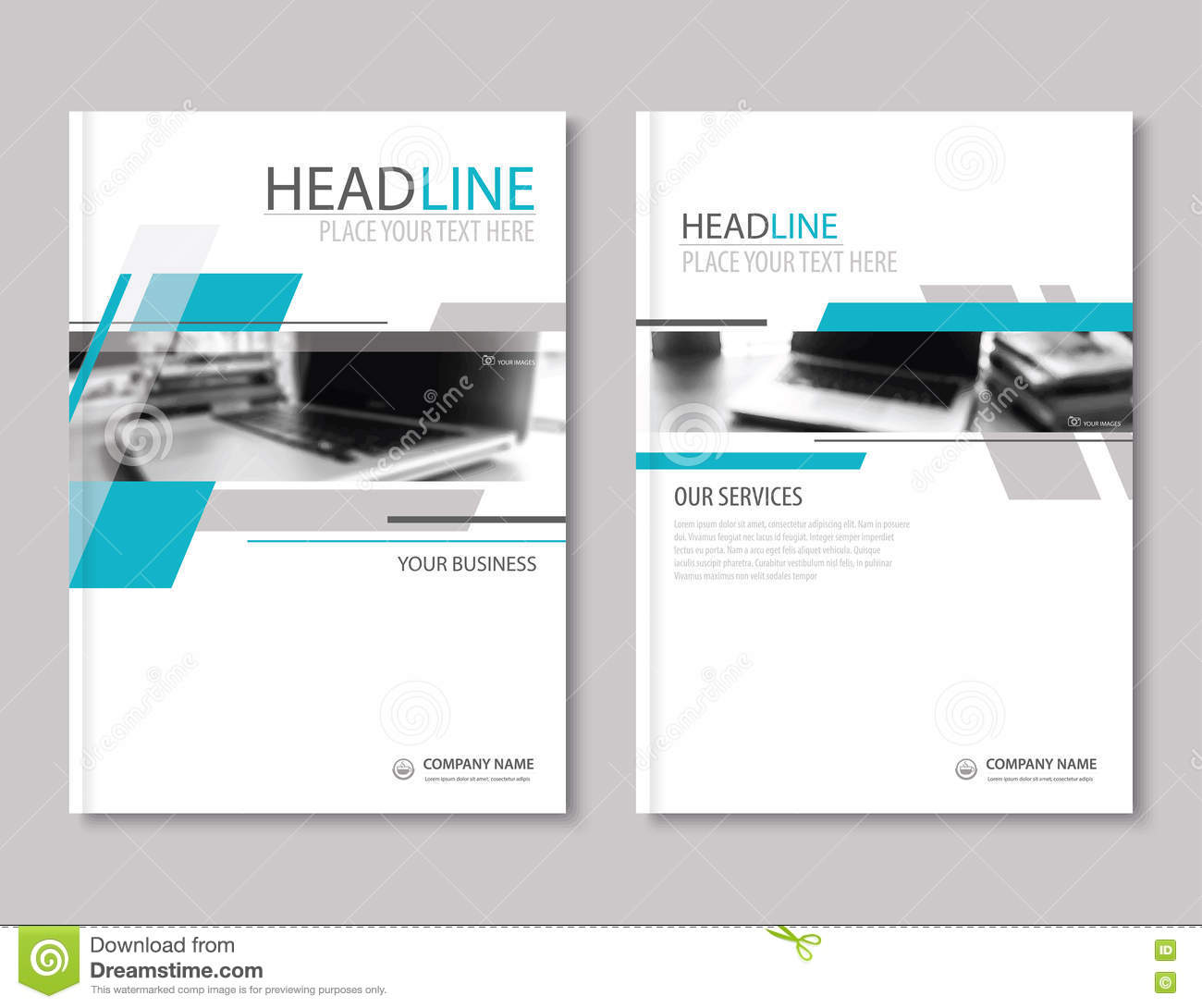 Company profile annual report brochure template vector for Company profile brochure template