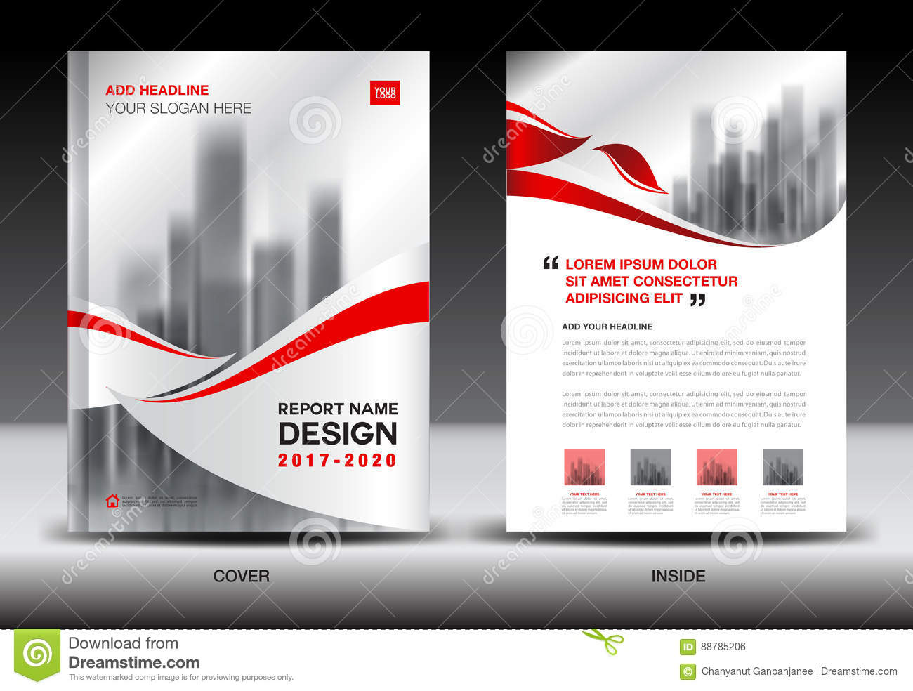 Annual report brochure flyer template, Red cover design, business, newsletter, book, magazine ads, booklet,catalog, infographics