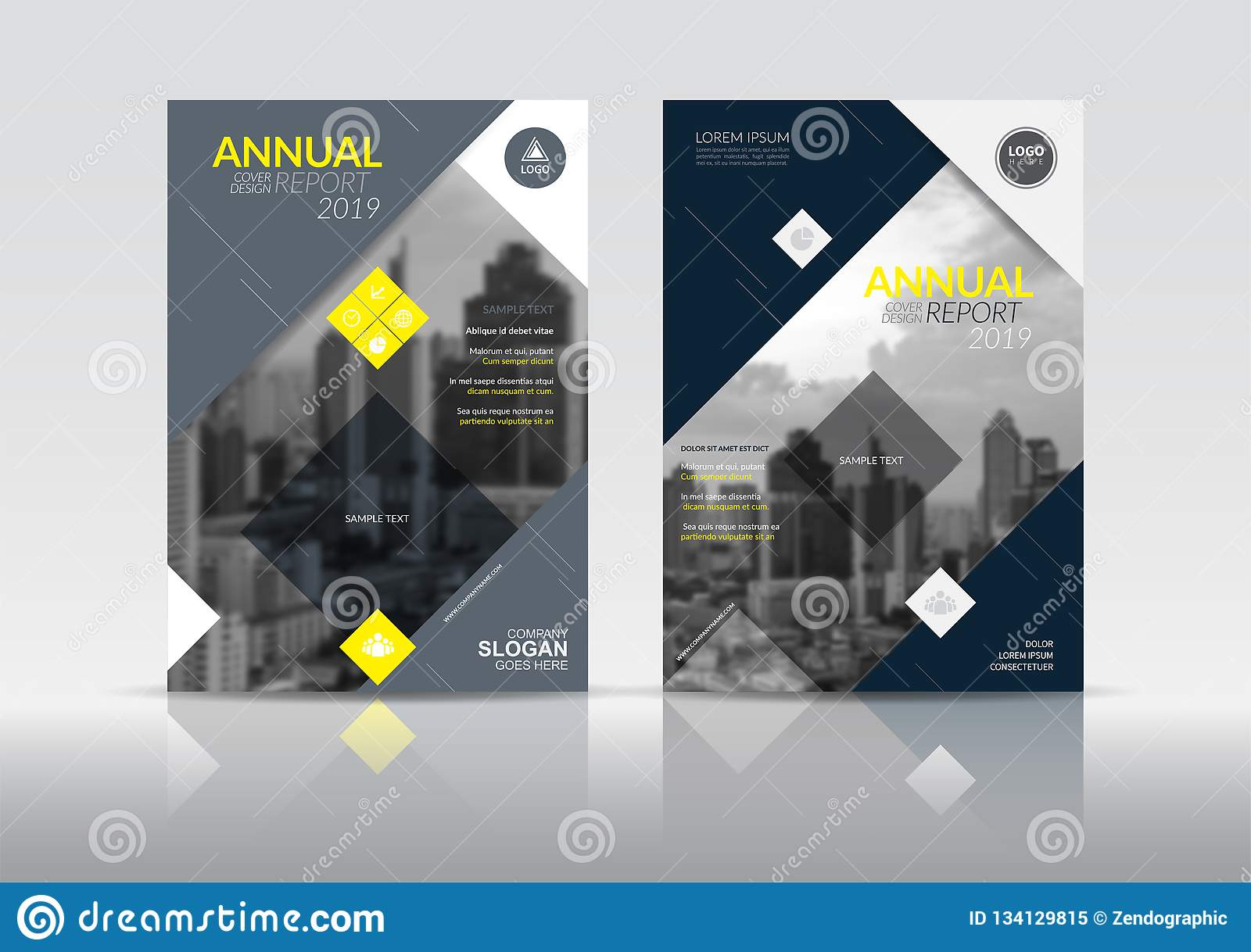 Annual Report Cover Brochure Flyer Design Template Stock
