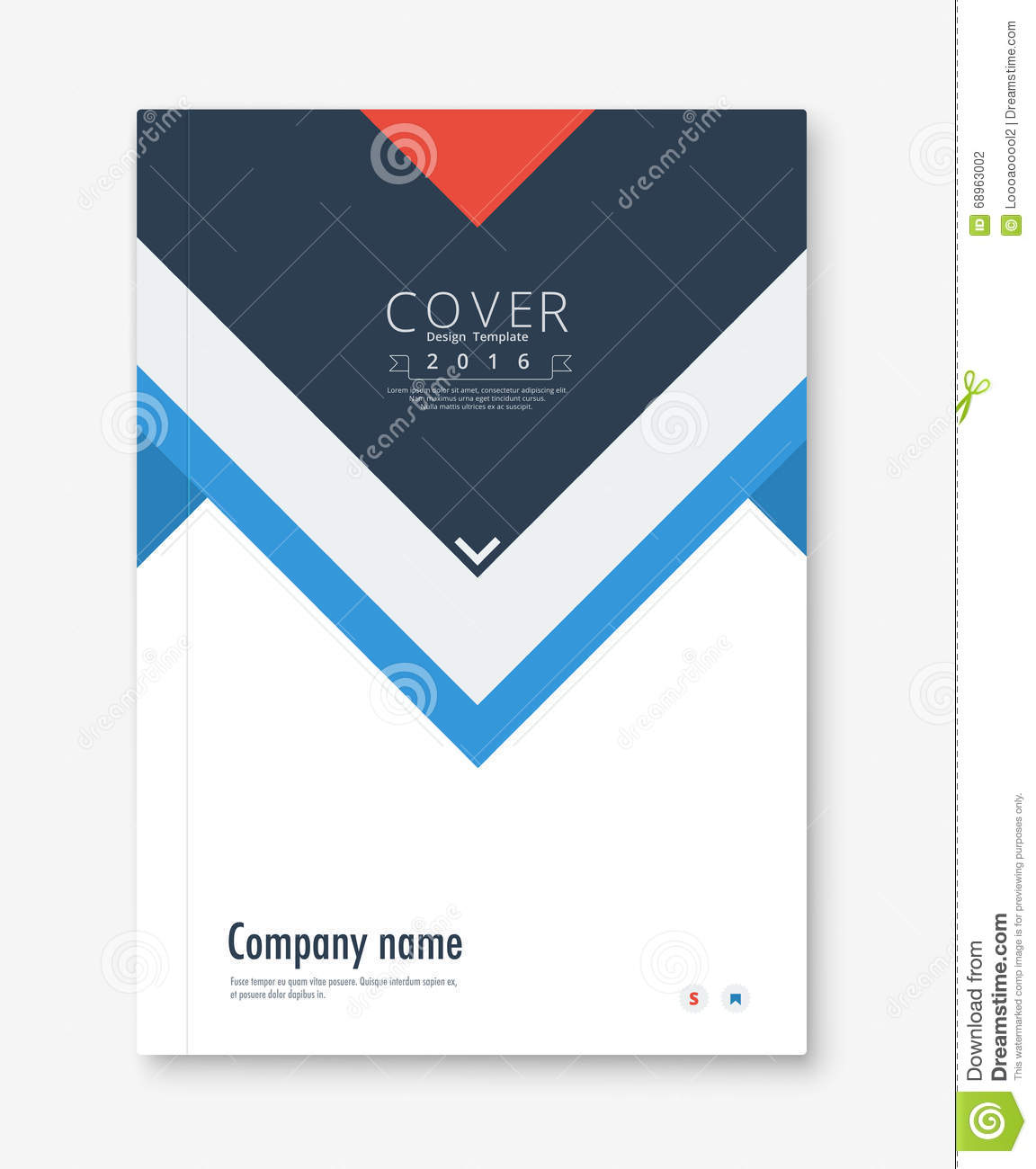 Book Report Cover Template : Annual report cover design book brochure template with