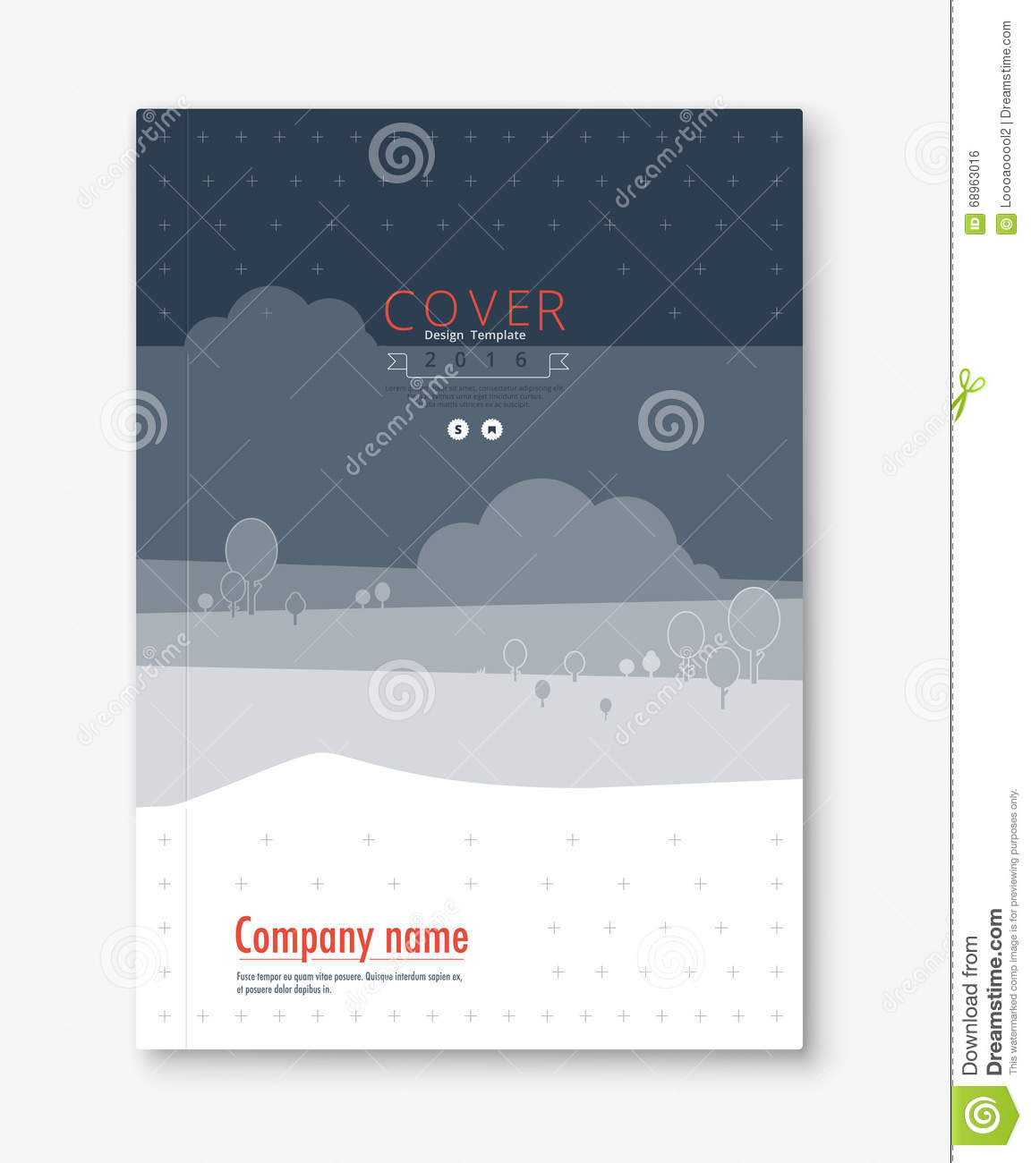 Cover Book Brochure Layout Vector ~ Annual report cover design book brochure template with
