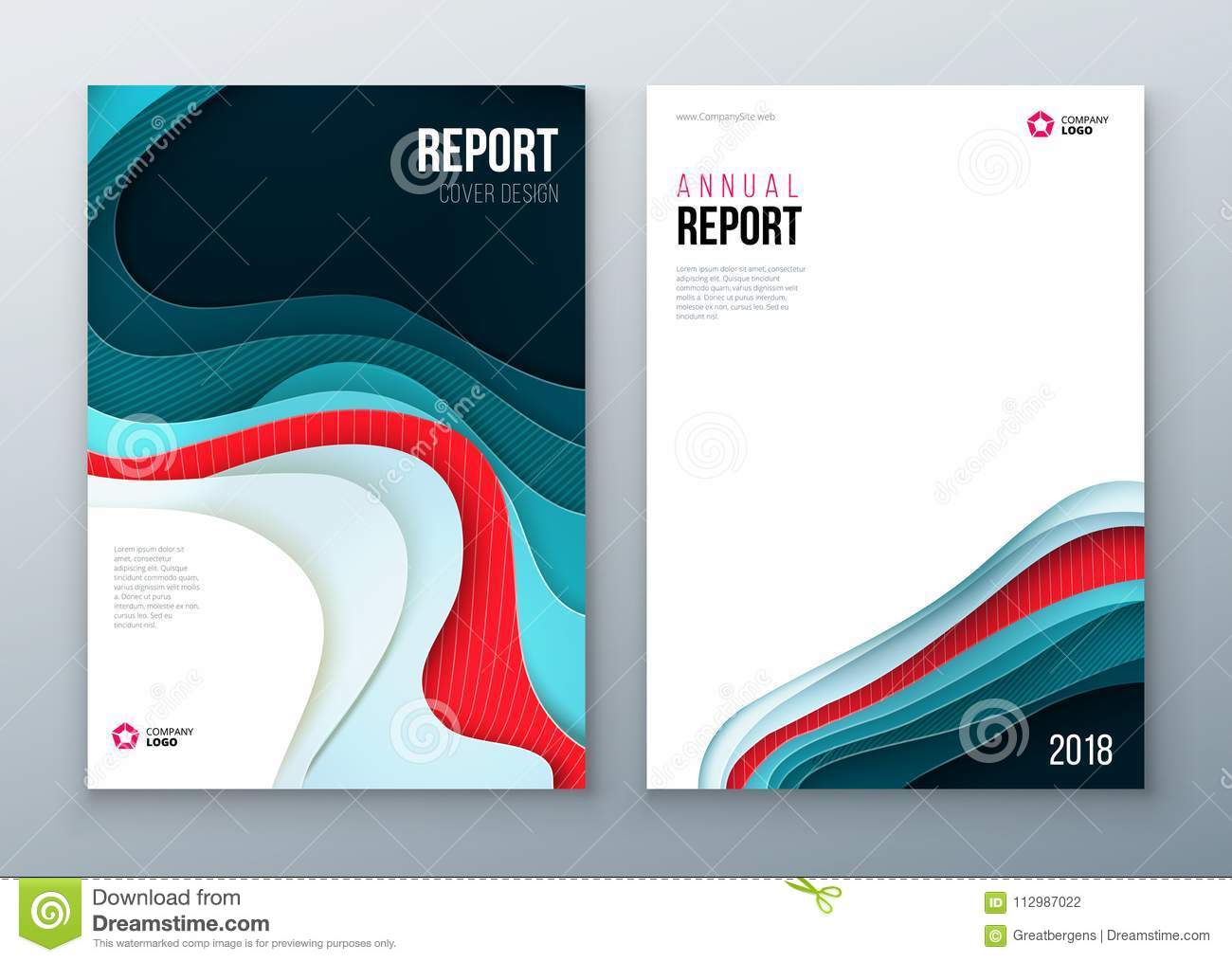 Annual report Cover design. Corporate business template for brochure, annual report, catalog, magazine, book, booklet