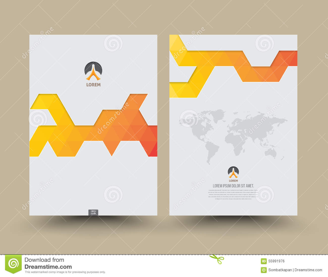 annual report cover design stock vector illustration of content