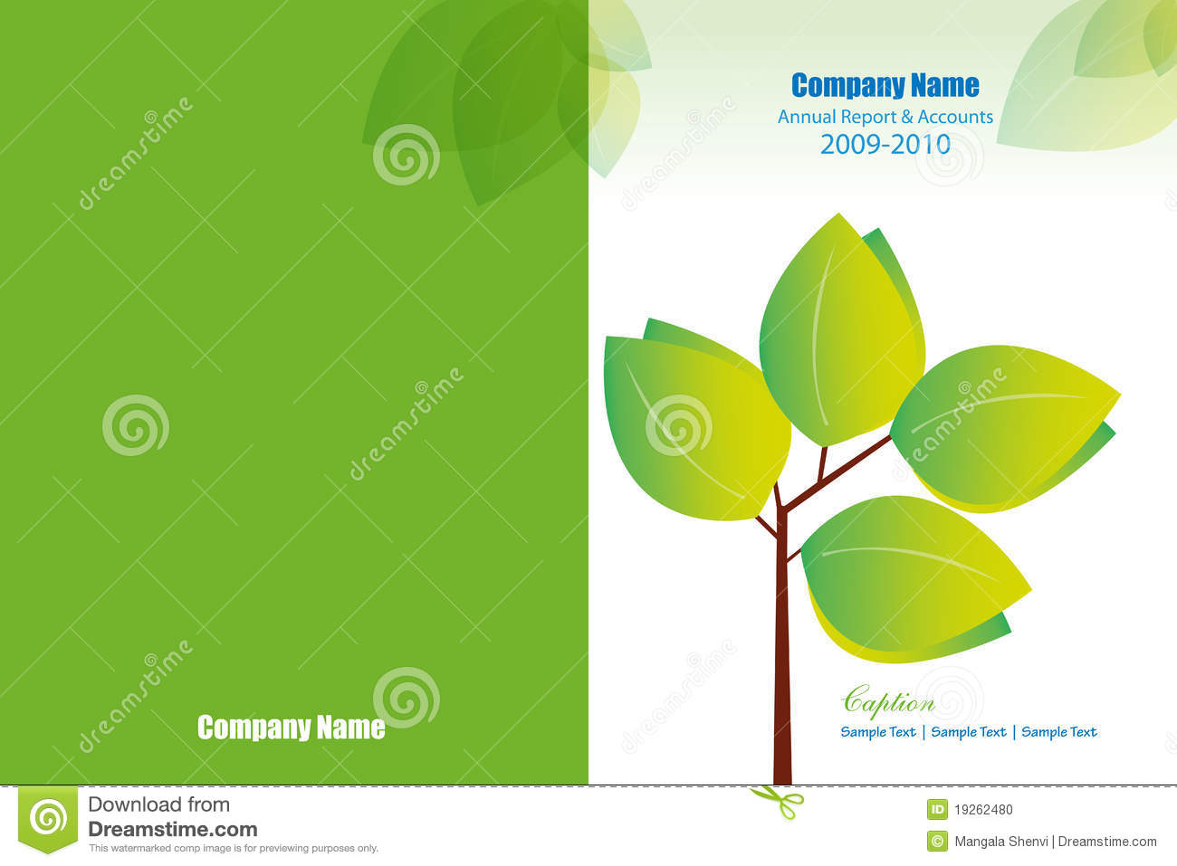 Annual Report Cover Layout Stock Photo Image 19262480