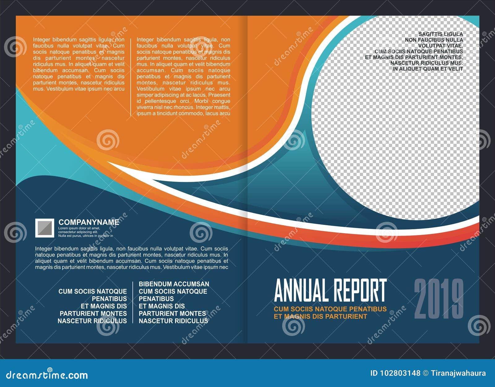 Annual Report Cover Template Design