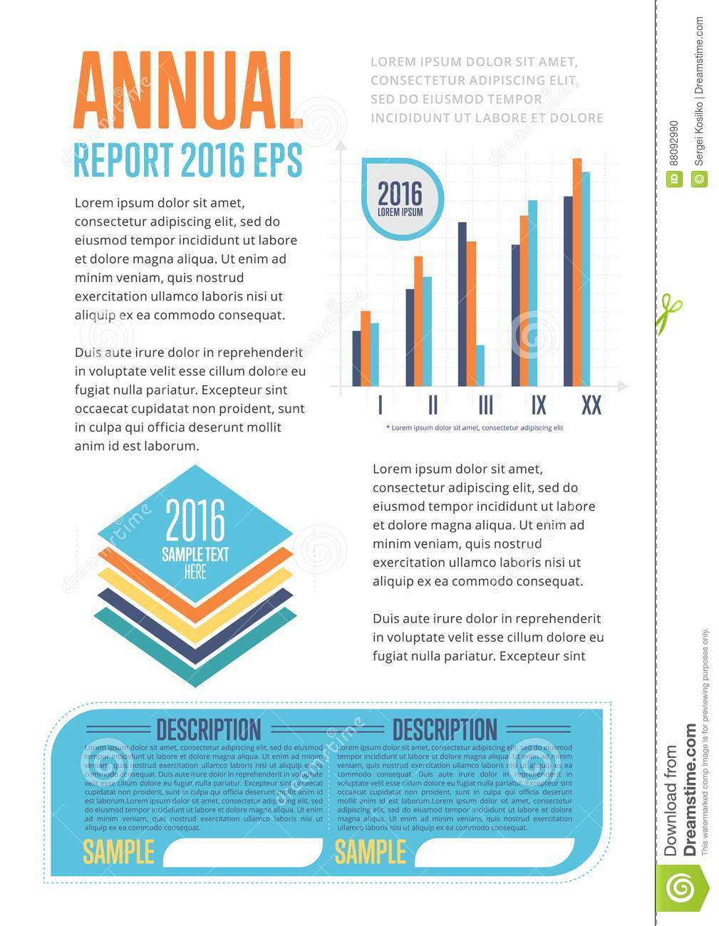Annual report template with diagram stock vector illustration of download annual report template with diagram stock vector illustration of connection business 88092990 flashek Gallery