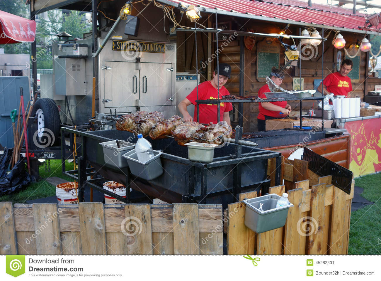 The Annual Ribfest At Guelph, Ontario Editorial Photo - Image of