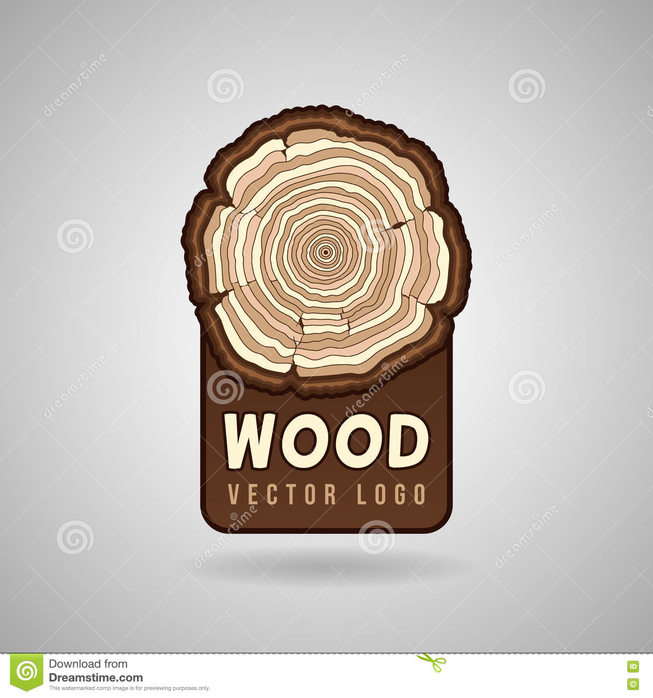 Cross Section Of The Trunk With Tree Rings Wood Sign Icon