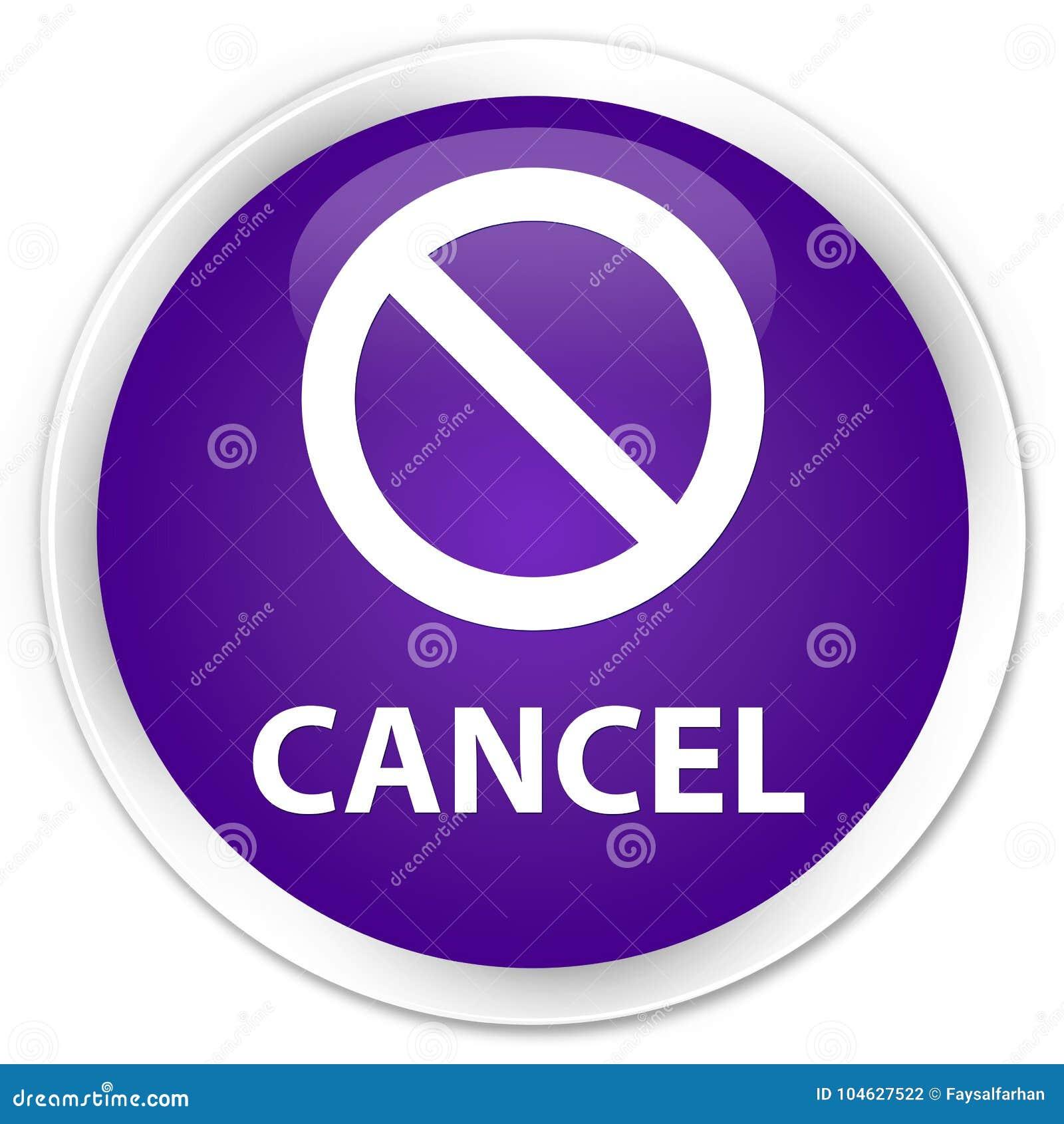 Download Annuleer (het Pictogram Van Het Verbodsteken) Premie Purpere Ronde Knoop Stock Illustratie - Illustratie bestaande uit waarschuwing, veiligheid: 104627522