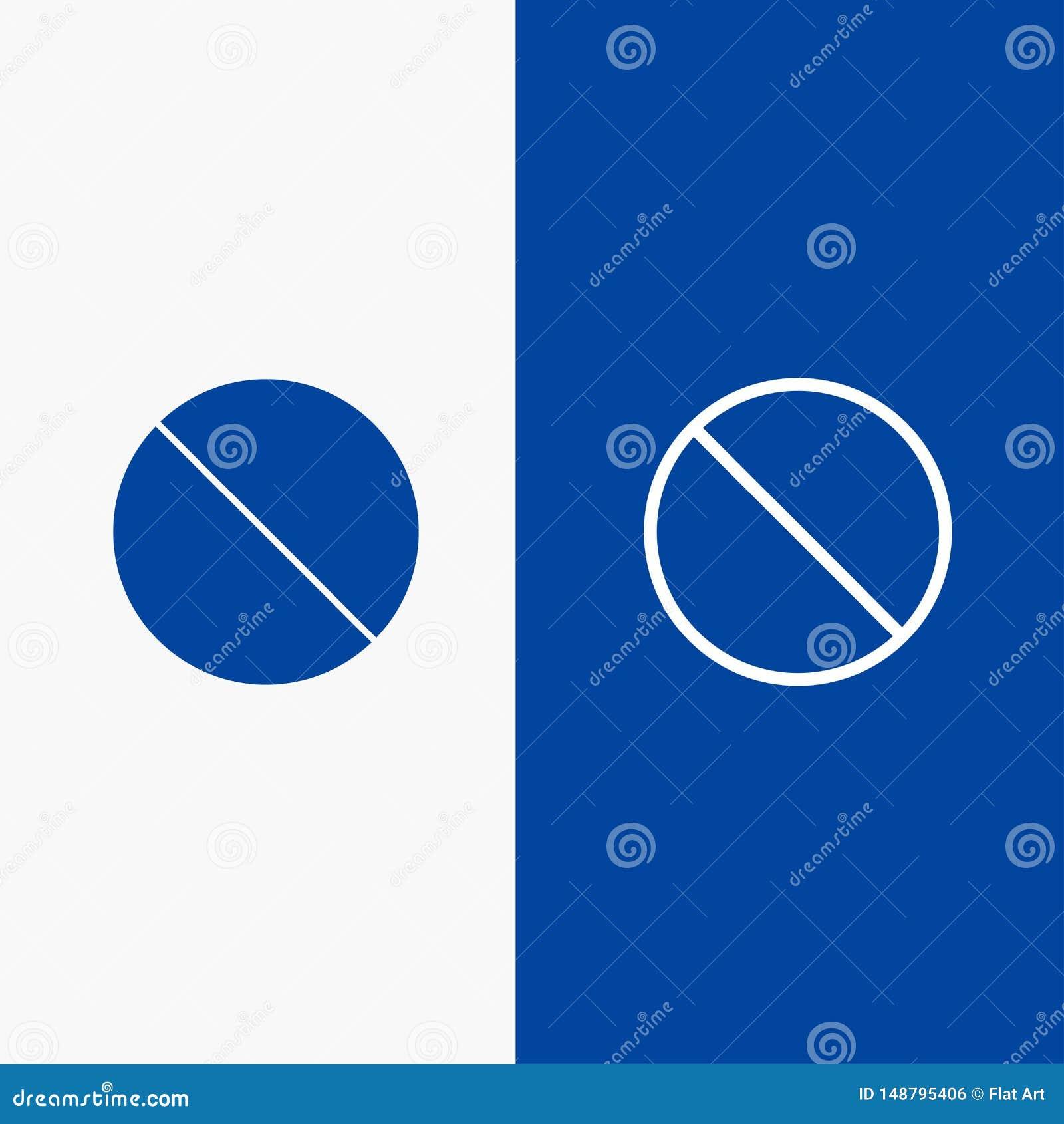 Annullering som är förbjuden, inte, baner för blå för baner för förbjuden symbol för linje och för skåra fast blått symbol för li