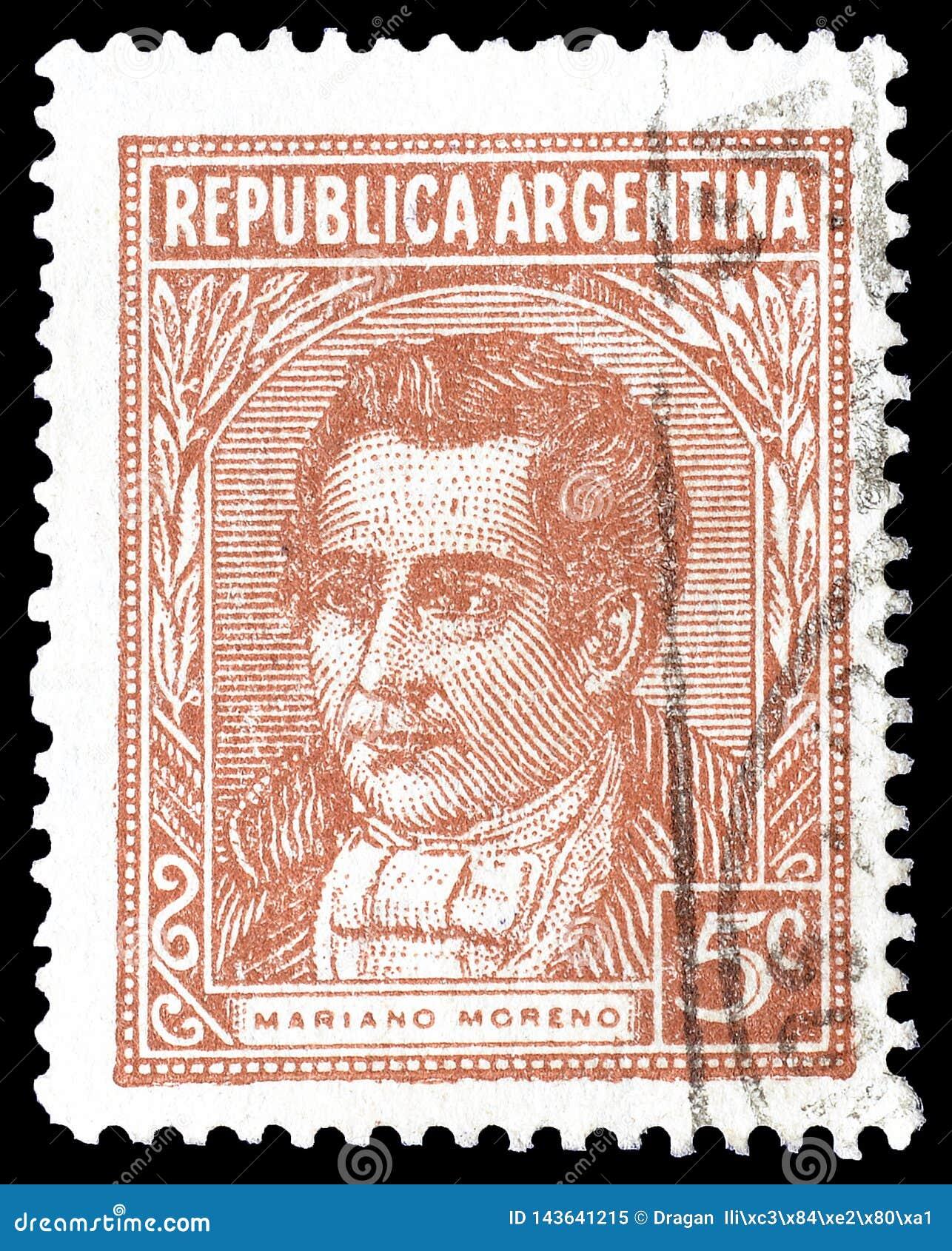 Annullierte Briefmarke gedruckt durch Argentinien
