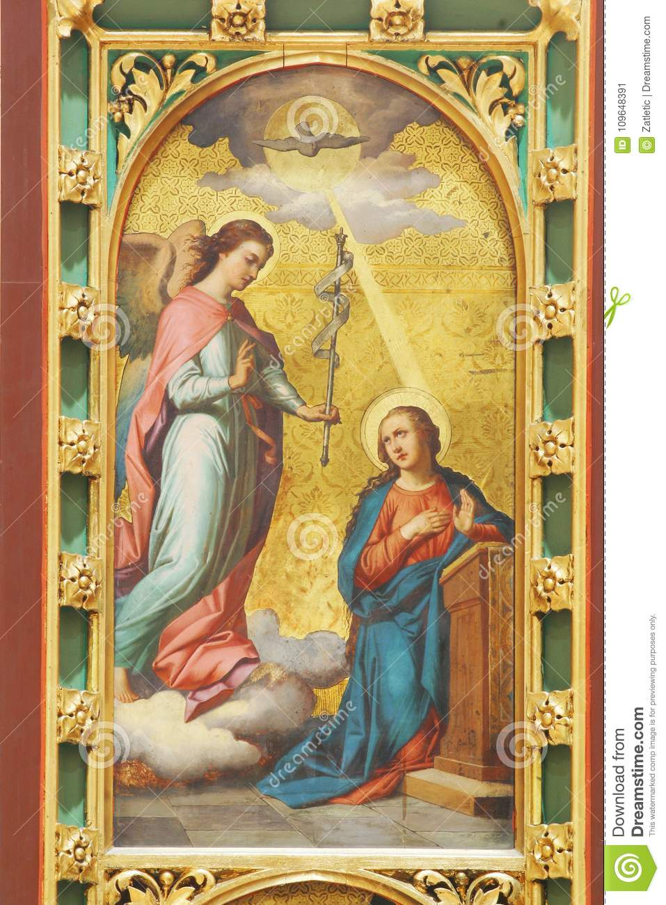 the annunciation of the virgin mary stock image image of archangel