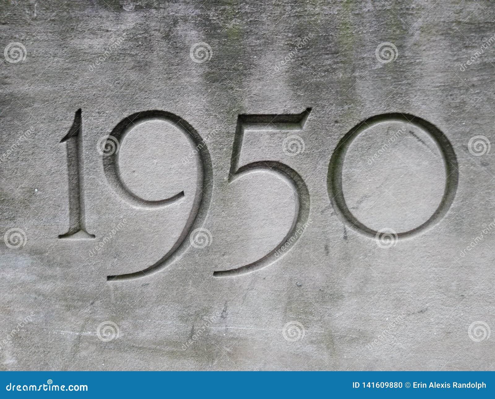 1950, ano cinzelado na pedra