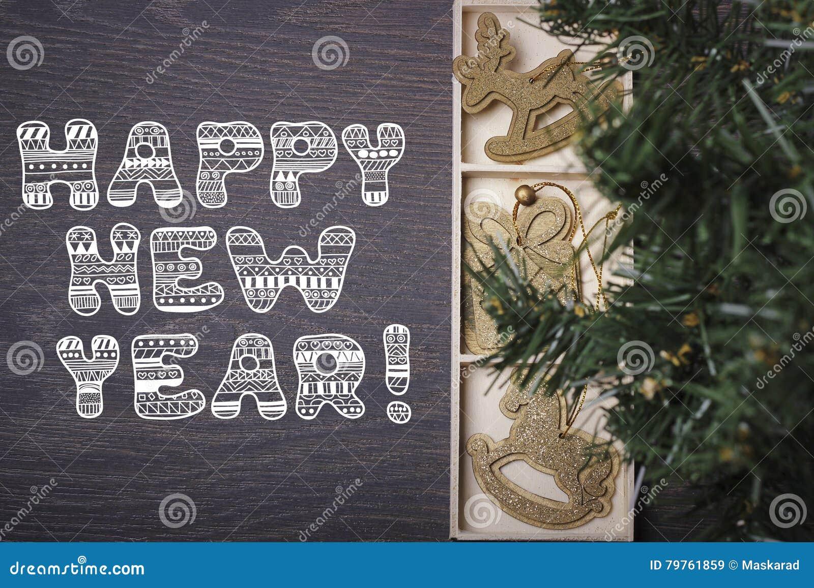 Ano novo feliz! Ano novo ou cartão de Natal
