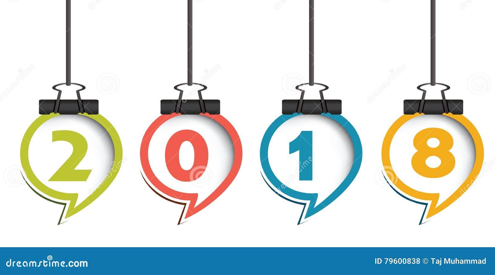 Ano novo feliz feliz 2018