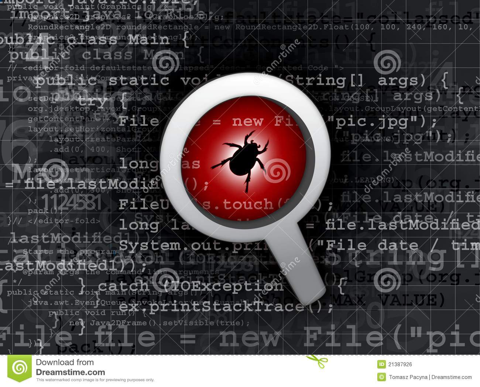 Anomalie de virus en code de programme