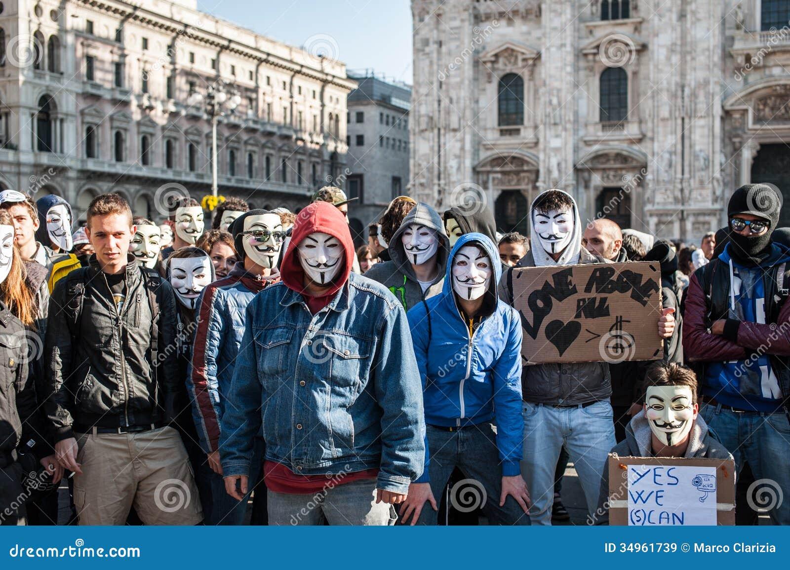 Anoniem in Milaan