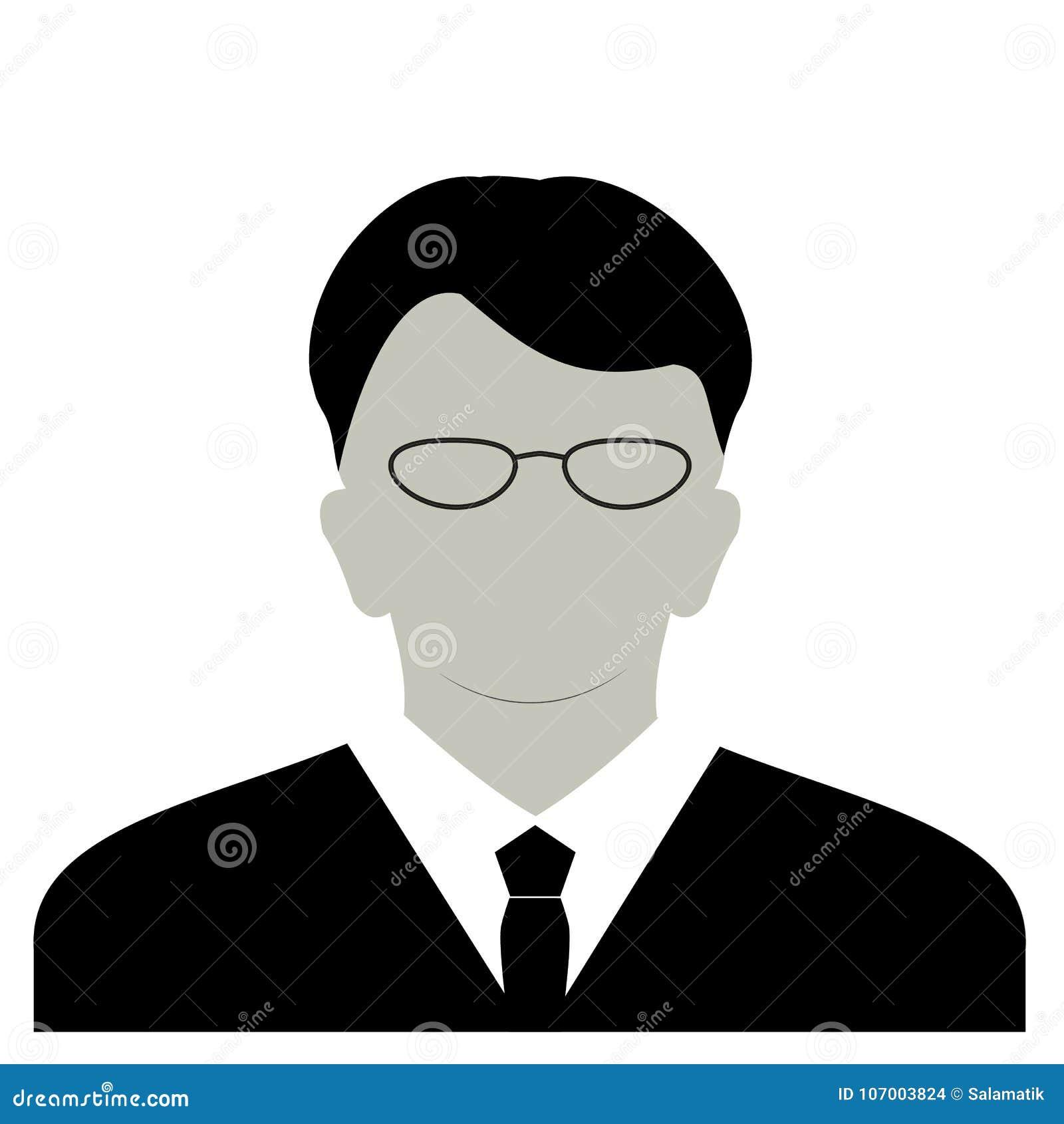 Anonyme Gesichtsikone des Profils Graue Schattenbildperson Männlicher Geschäftsmannprofil-Nichterfüllungsavatara Foto Placeholder