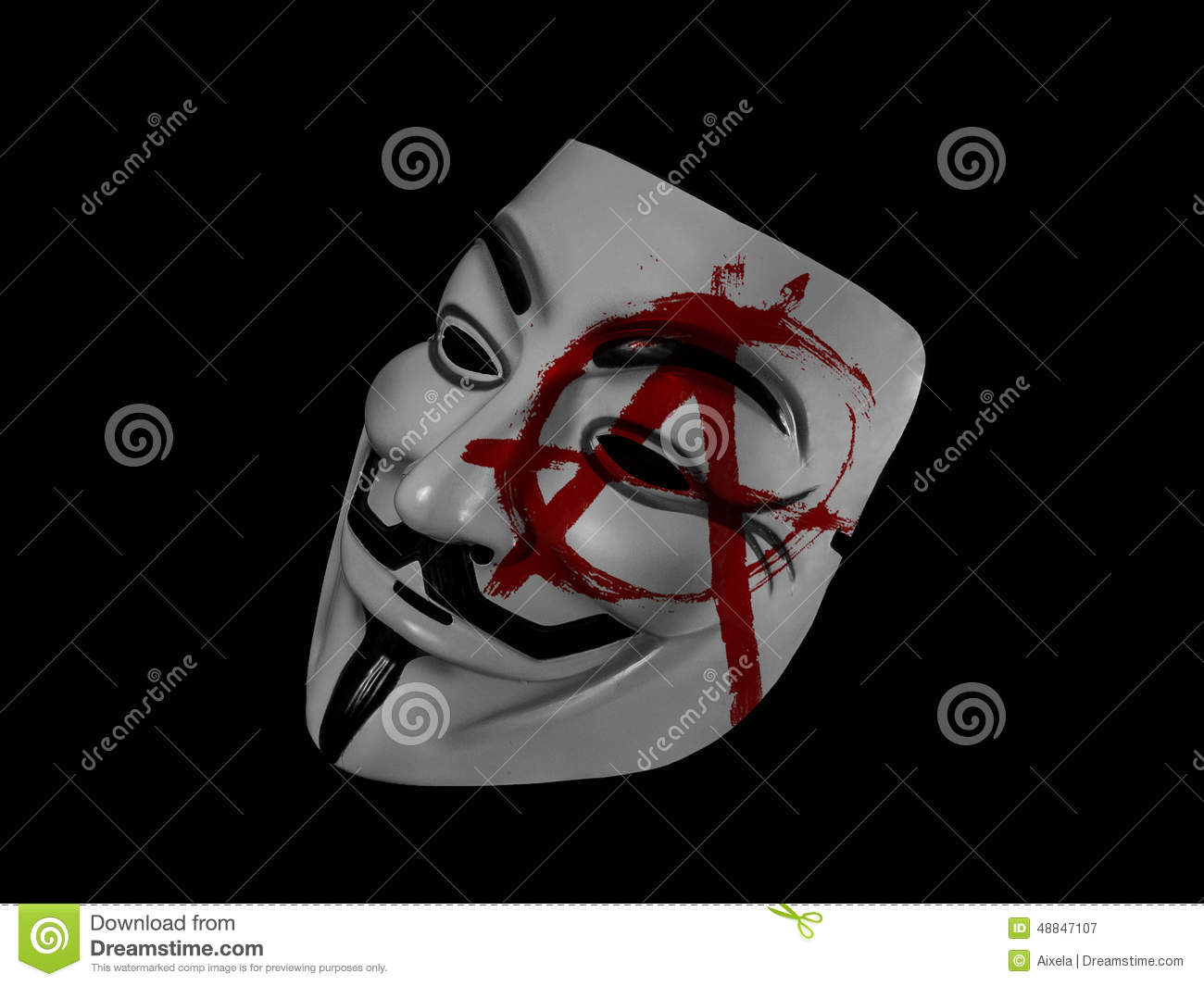 V For Vendetta Mask Vector Anonymous Anarchy Guy ...