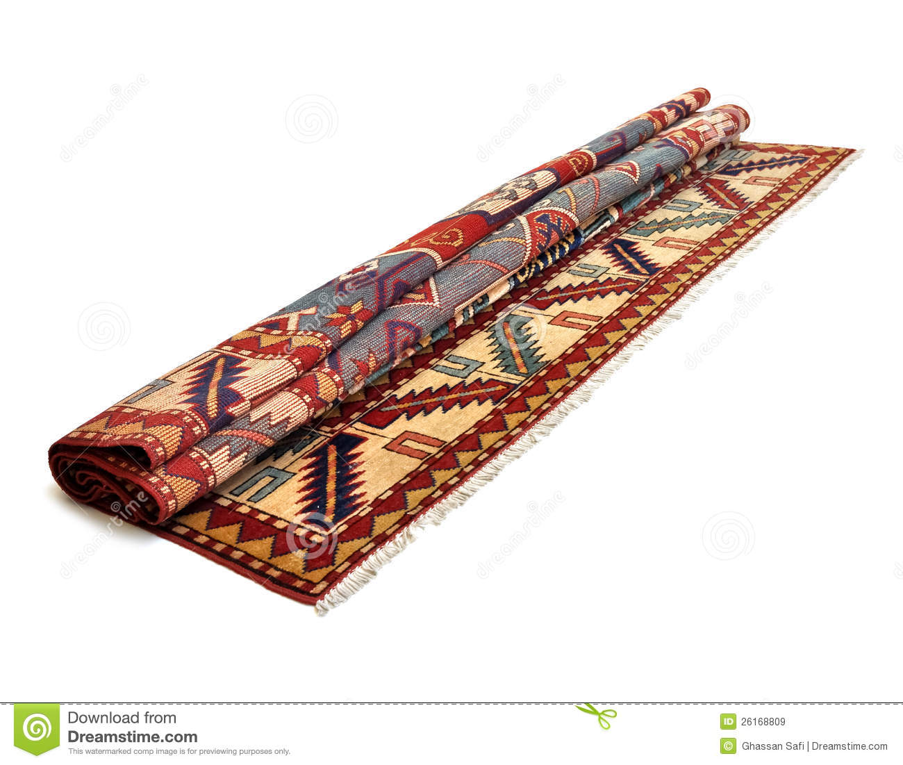 Another Rolled Persian Carpet Stock Image Image 26168809