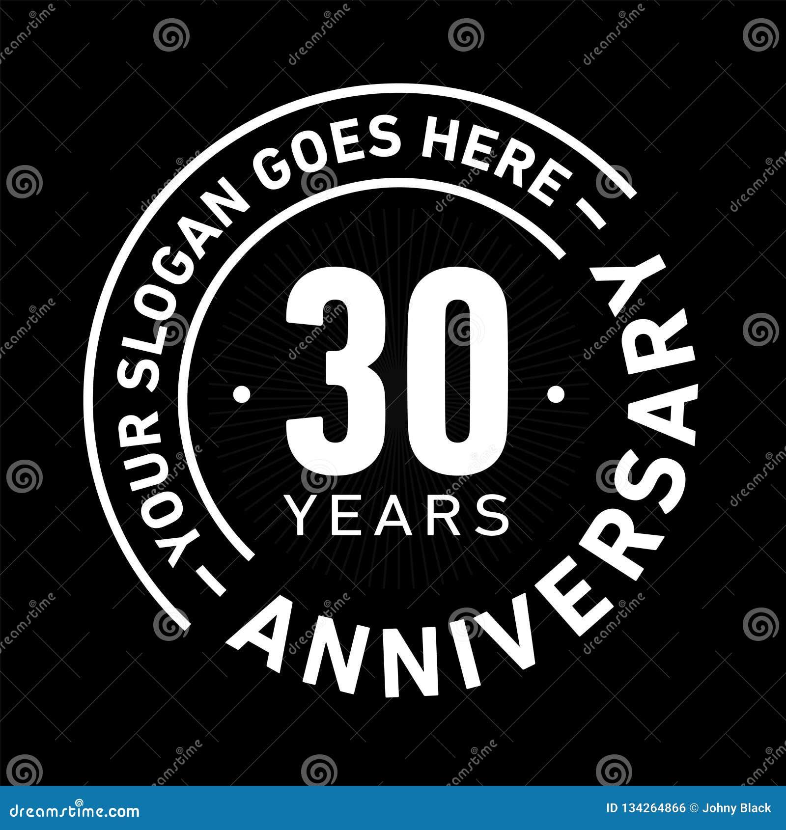 30 ans d anniversaire de célébration de calibre de conception Vecteur et illustration d anniversaire Trente ans de logo