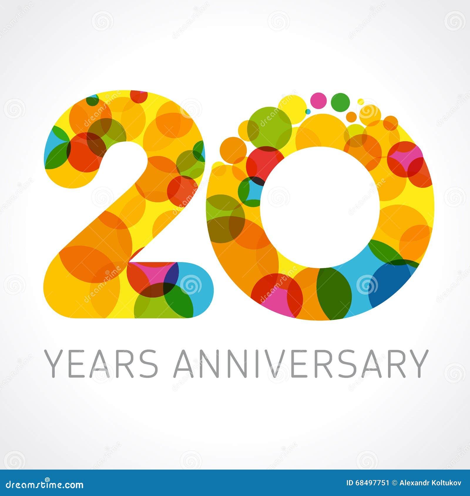 20 Ans Danniversaire De Logo Coloré De Cercle Illustration De