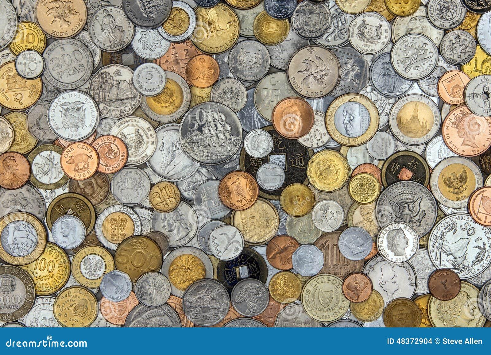 Ansammlung Alte Münzen Stockfoto Bild Von Münze Wert 48372904