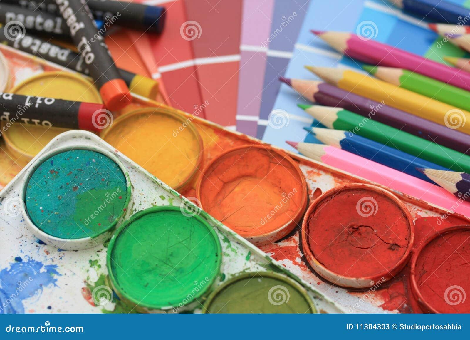 Ansammlung Farbenproben