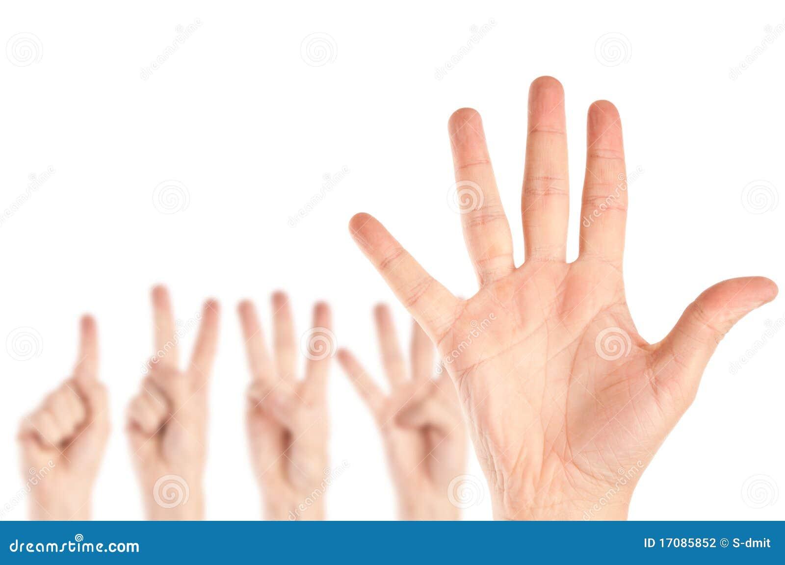 Ansammlung Hände