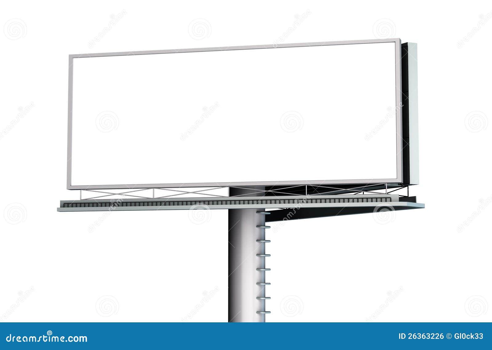 Anschlagtafel mit leerem Bildschirm