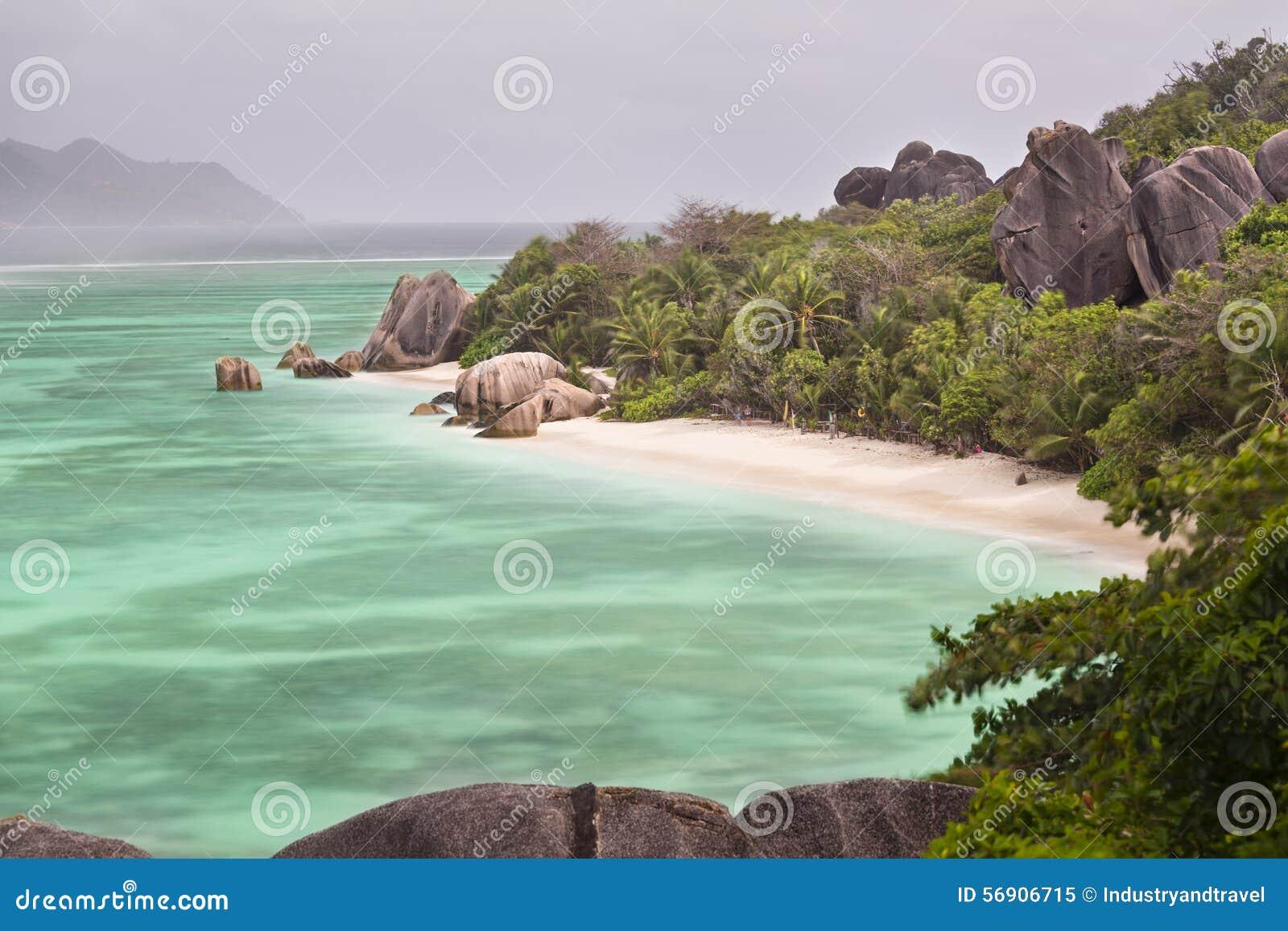 Anse银d digue la塞舌尔群岛来源
