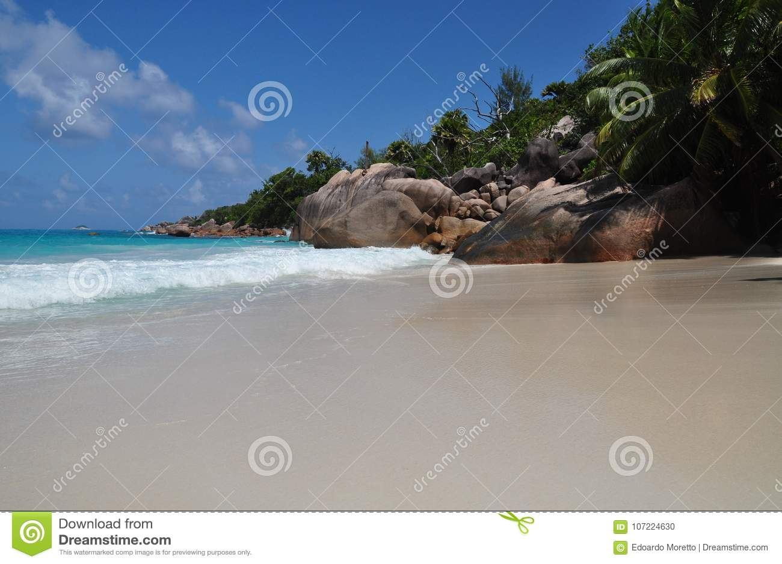 Anse Lazio, Seychelles, isla de Praslin