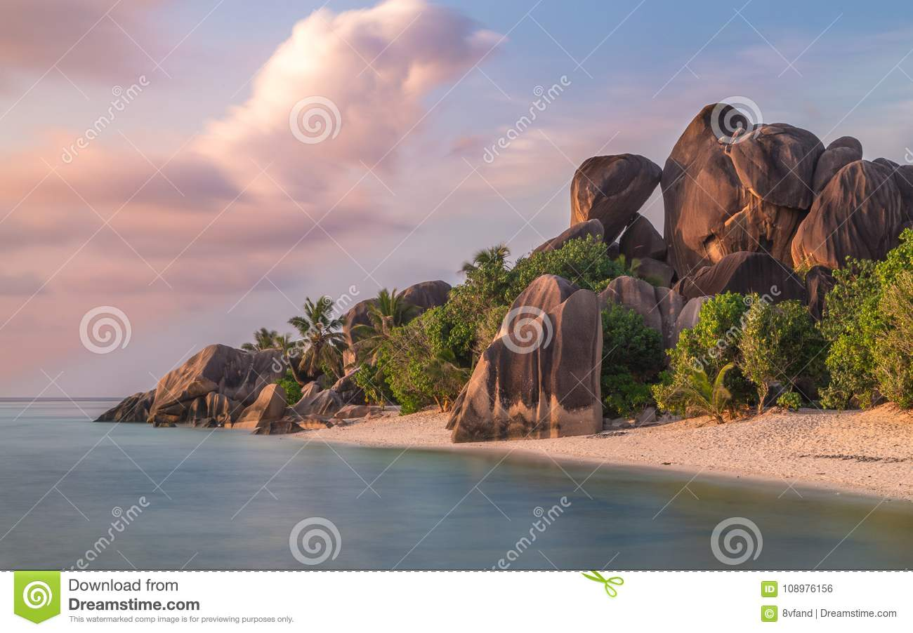 Anse Source d`Argent on La Digue Seychelles