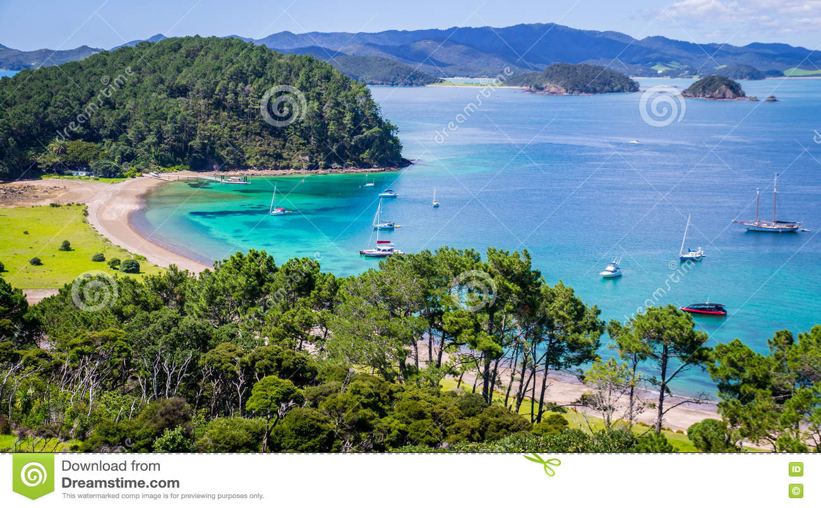 Ansicht über Bucht von Inseln Neuseeland