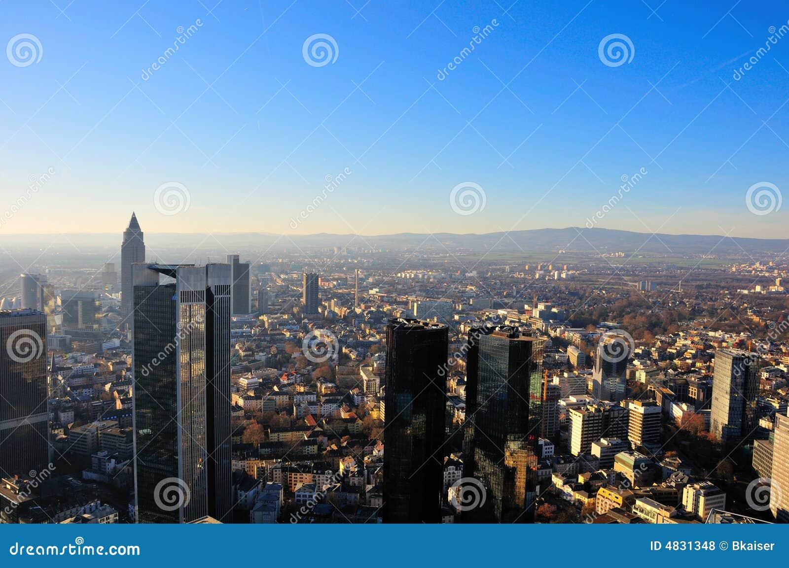 Ansicht über die Stadt