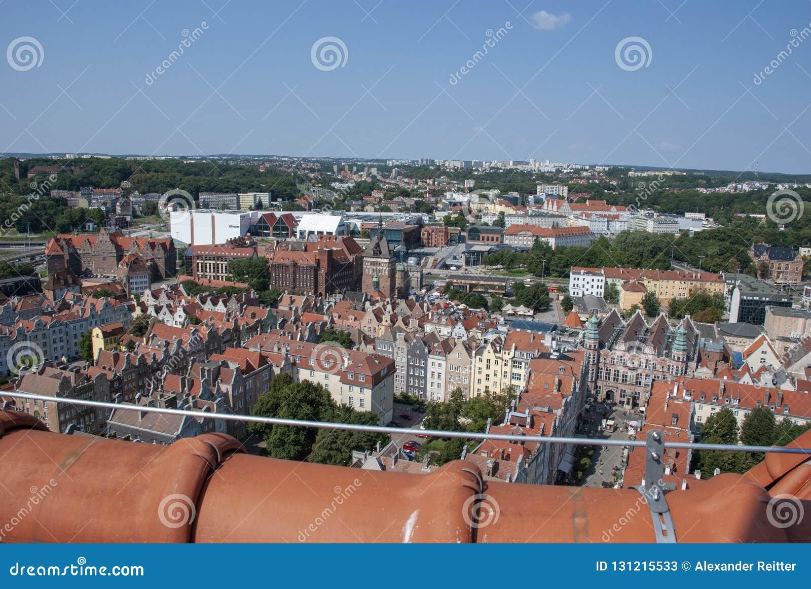 Ansicht über die Stadt von Gdansk, Polen