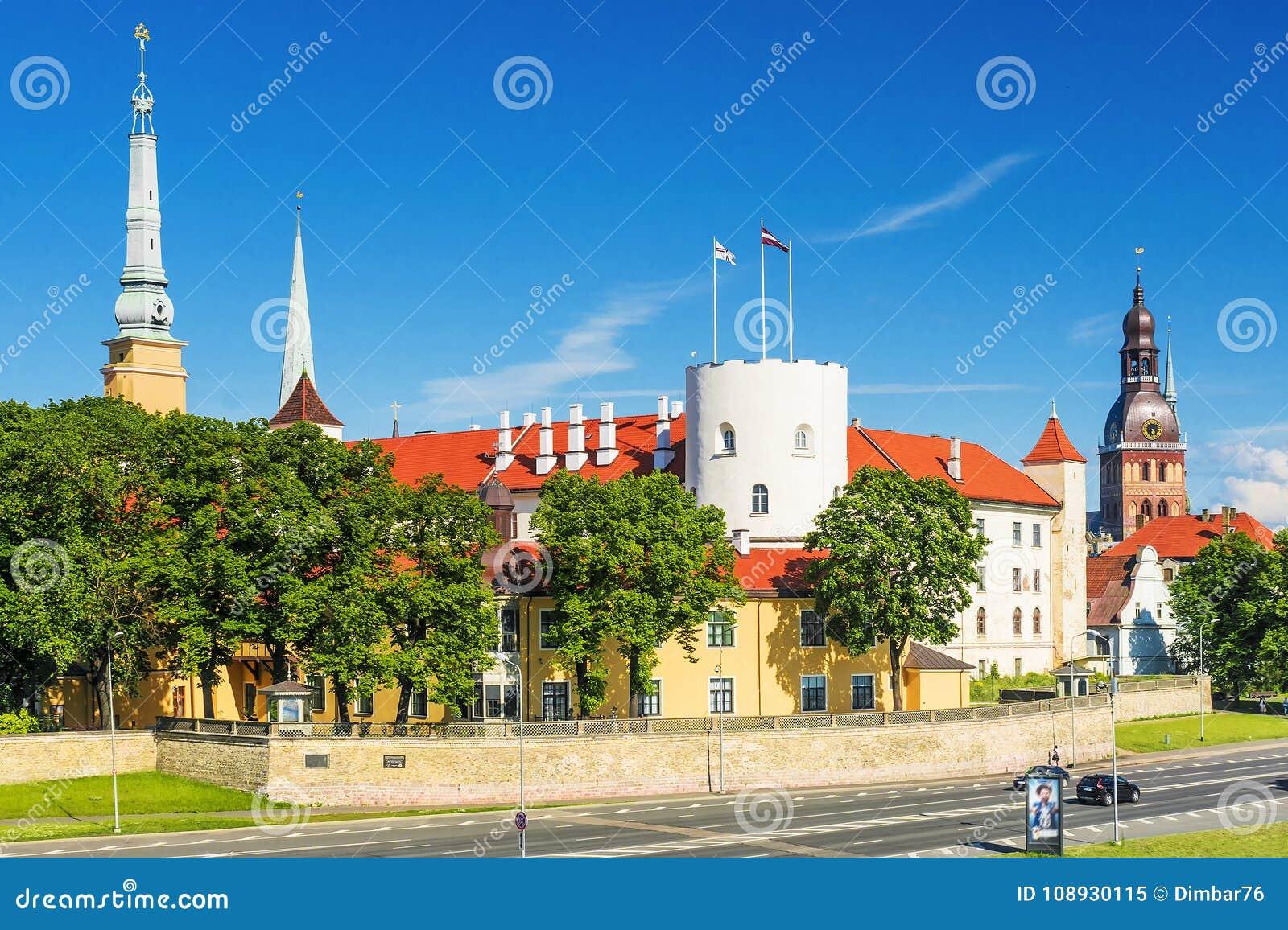 Ansicht über Riga-Schloss, Lettland
