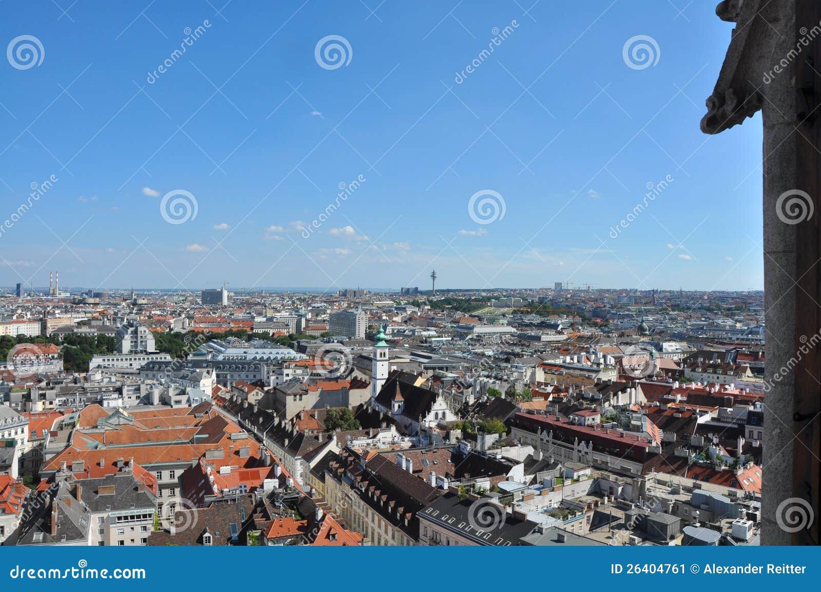 Ansicht über Wien, Österreich