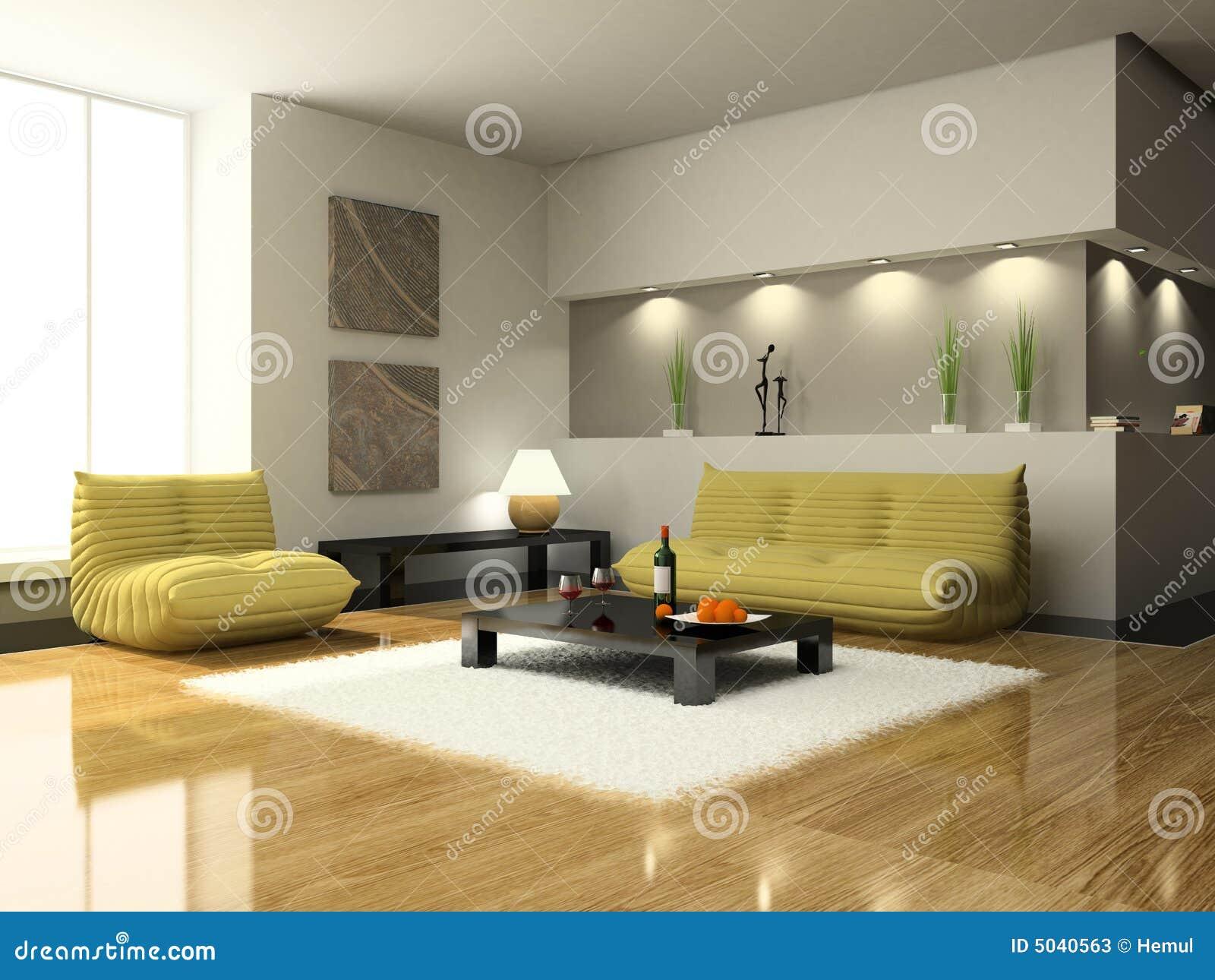 Ansicht über Das Moderne Wohnzimmer Stockfotos - Bild: 5040563