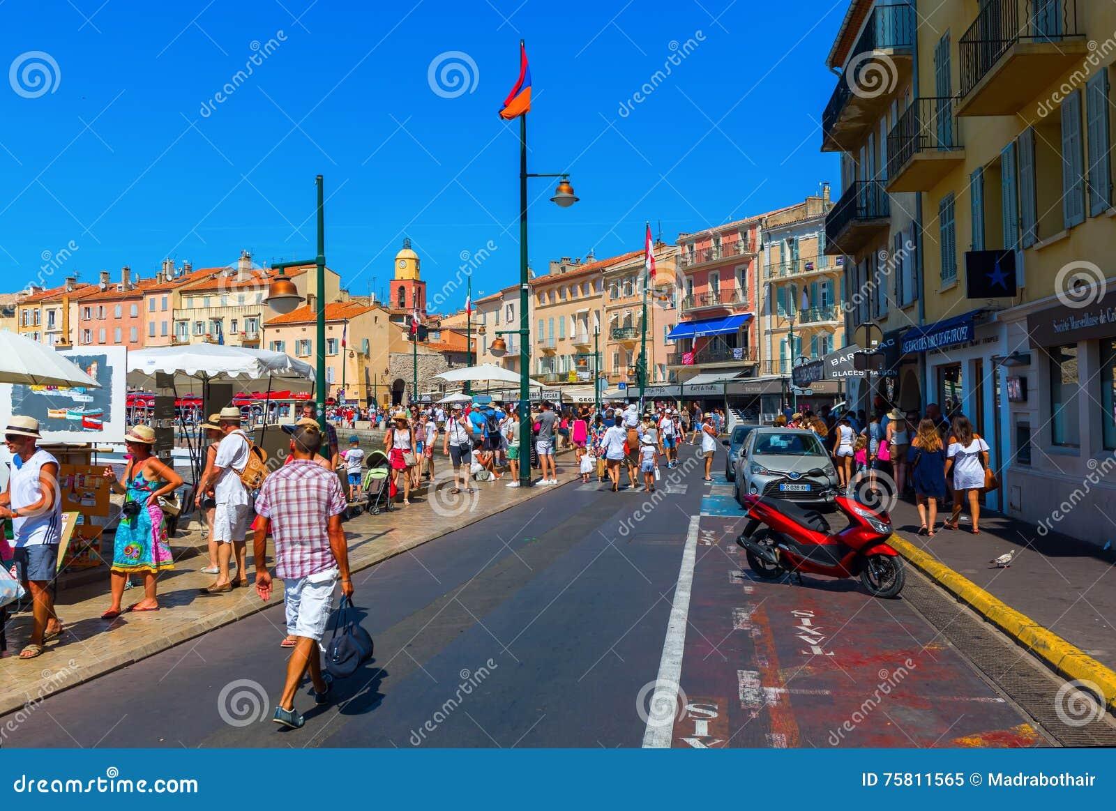 Ansicht in den Hafen von Saint Tropez, Frankreich