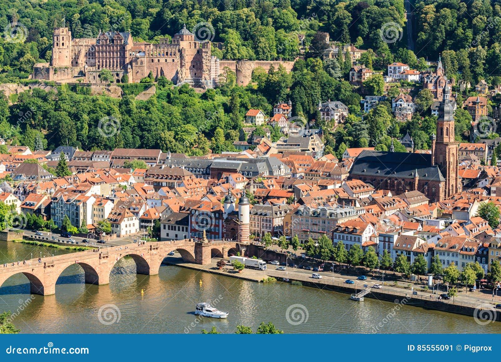 Ansicht der alten Stadt von Heidelberg