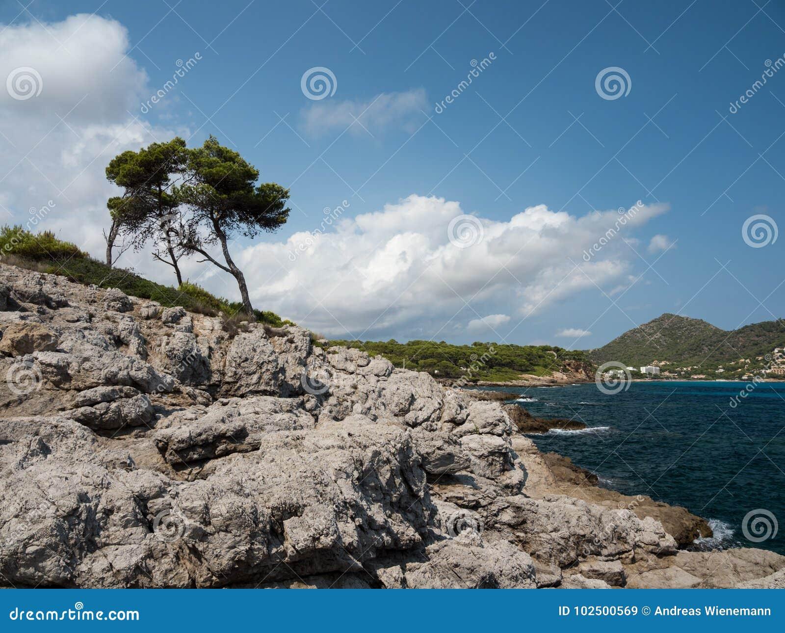 Ansicht der Bucht von canyamel, Mallorca, die Balearischen Inseln