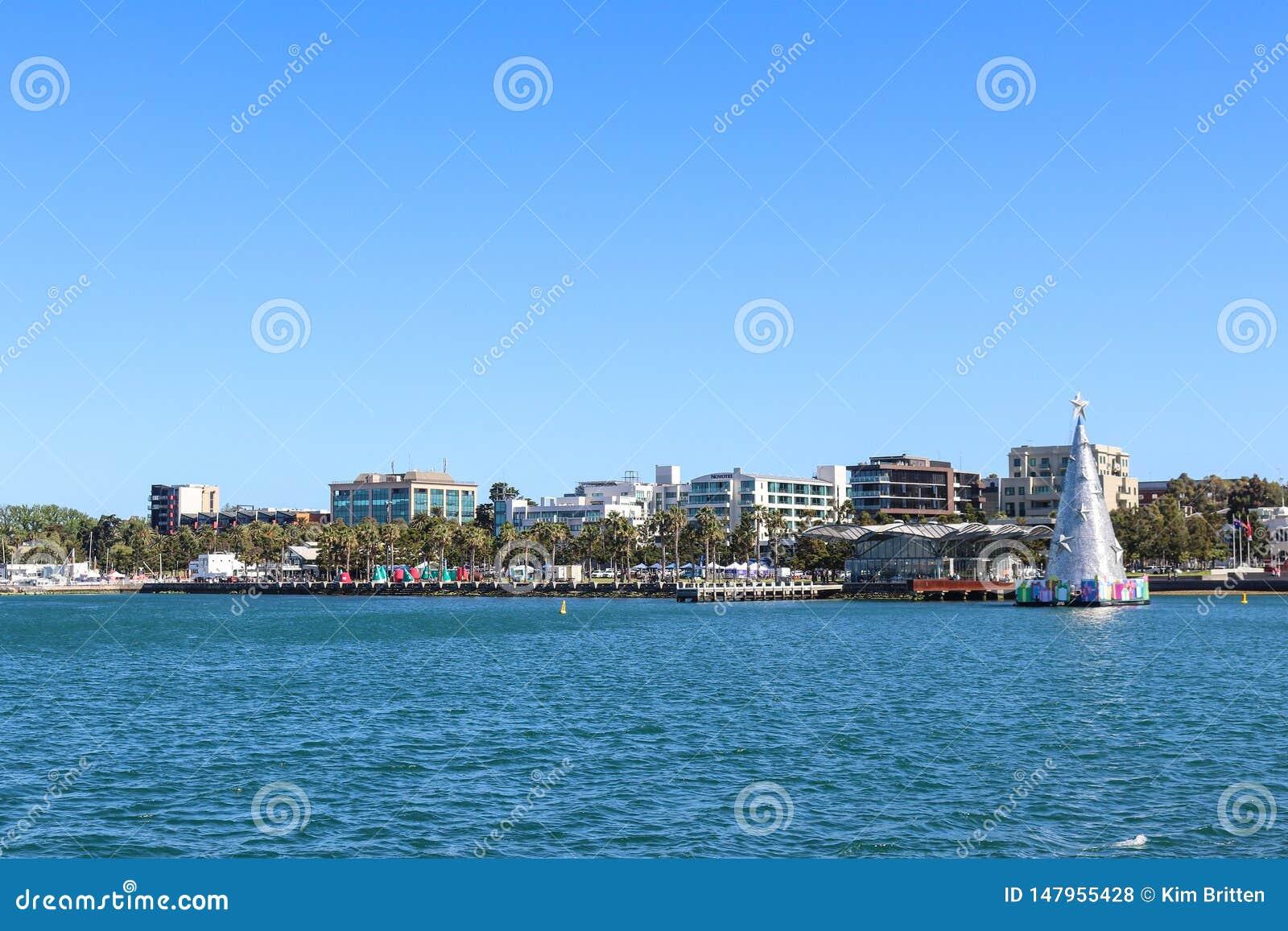 Ansicht der Geelong-Ufergegend von Cunningham Pier