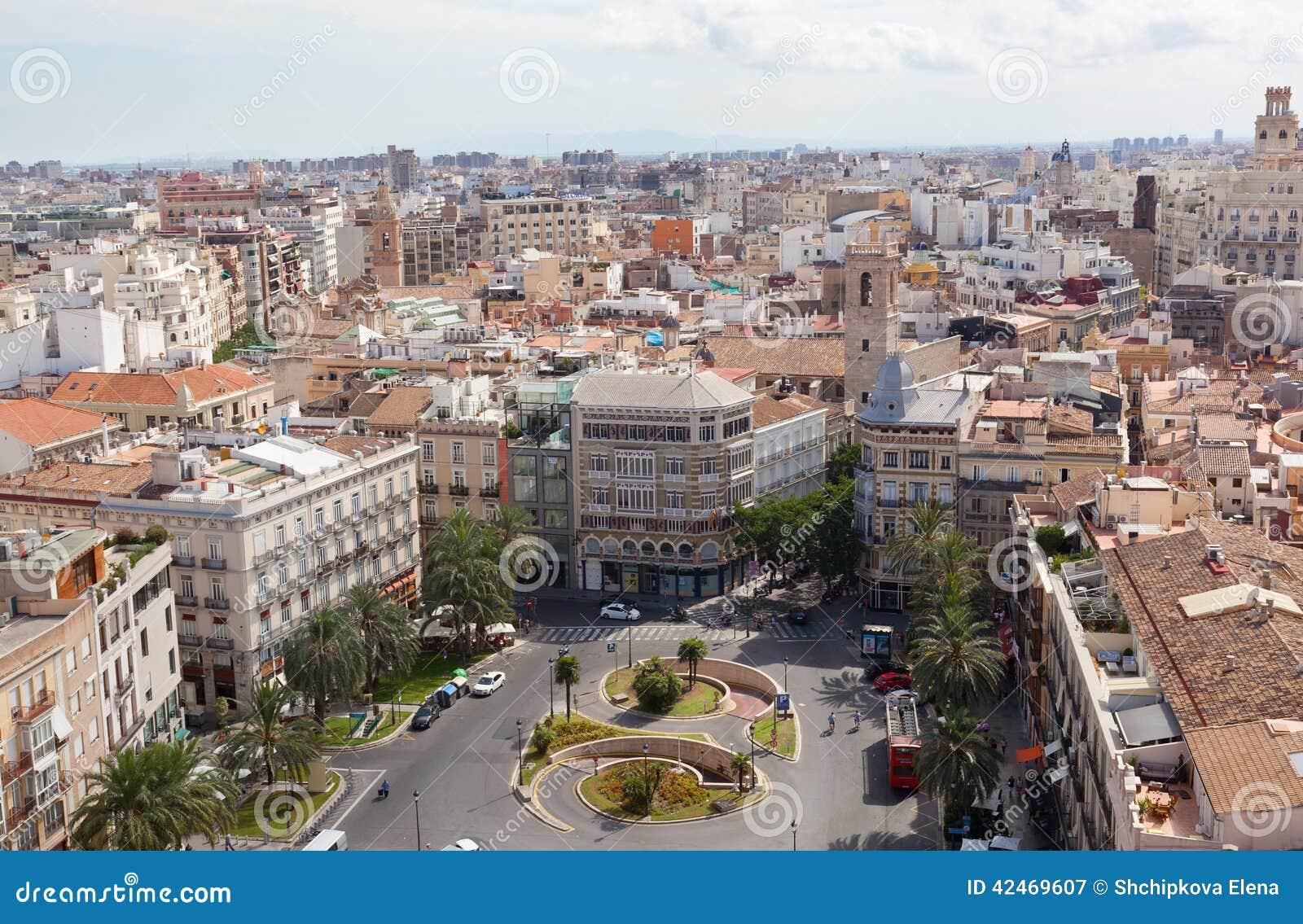 Ansicht der historischen Mitte von Valencia