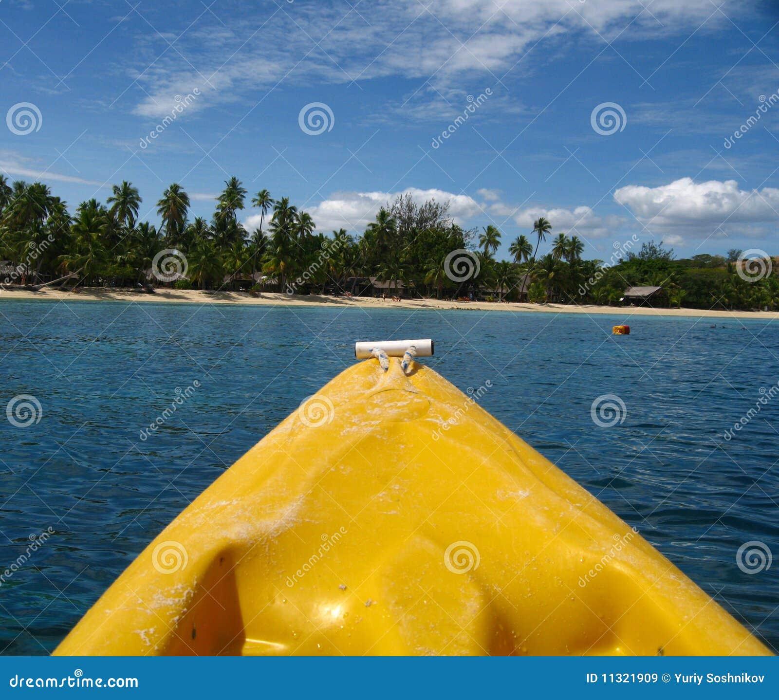 Ansicht der Insel von einem Kajak