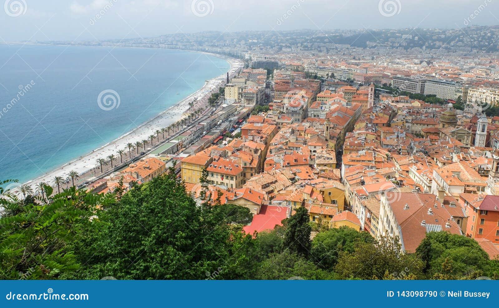 Ansicht der Nizza und alten Stadt, südlich von Frankreich