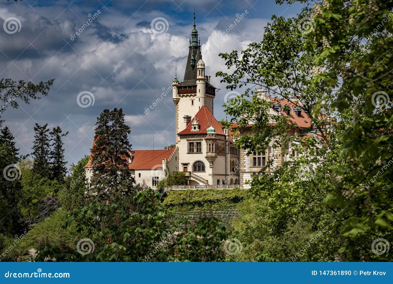 Ansicht der Pruhonice-Schloss-Tschechischen Republik