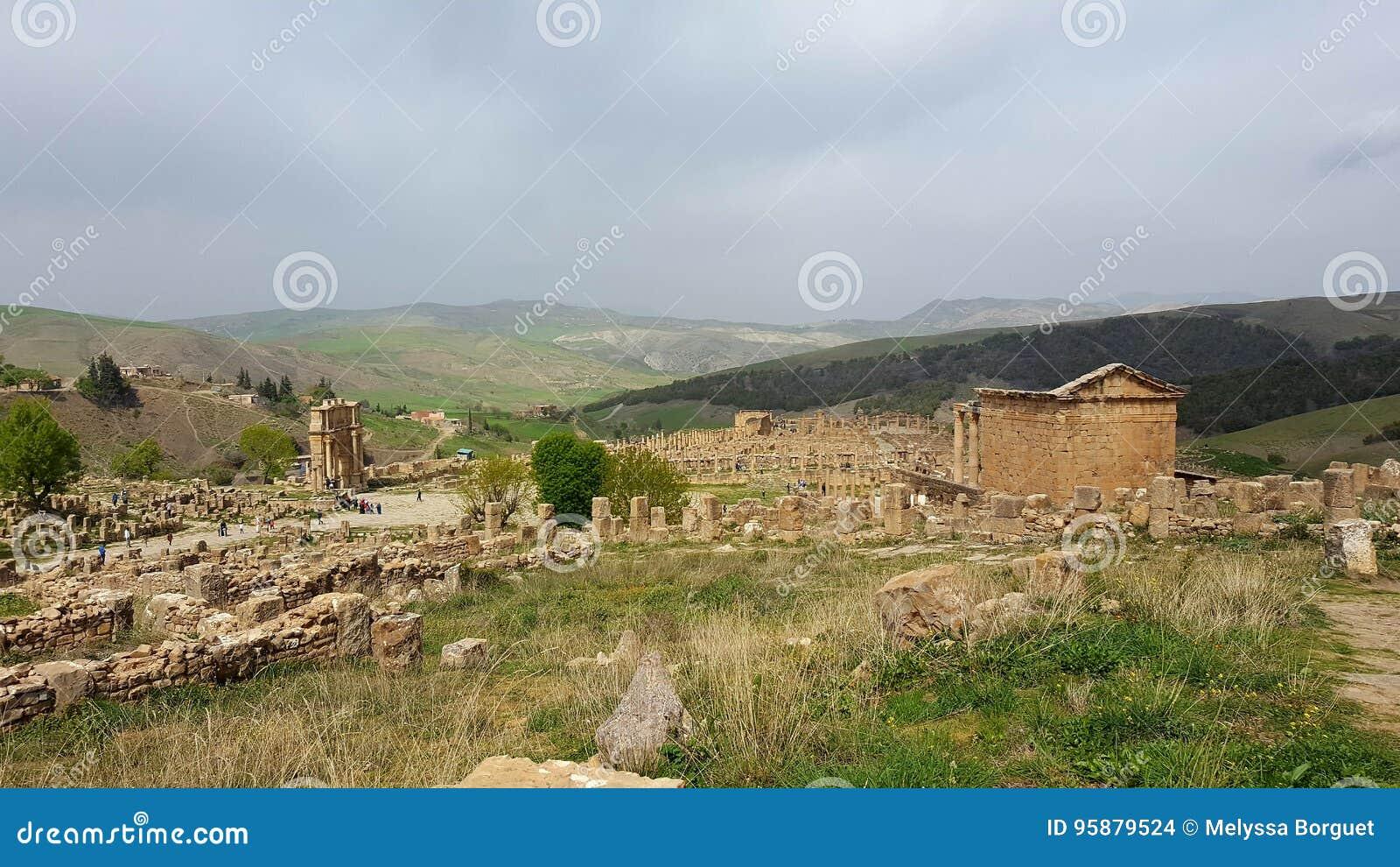 Ansicht der Ruinen von djemila