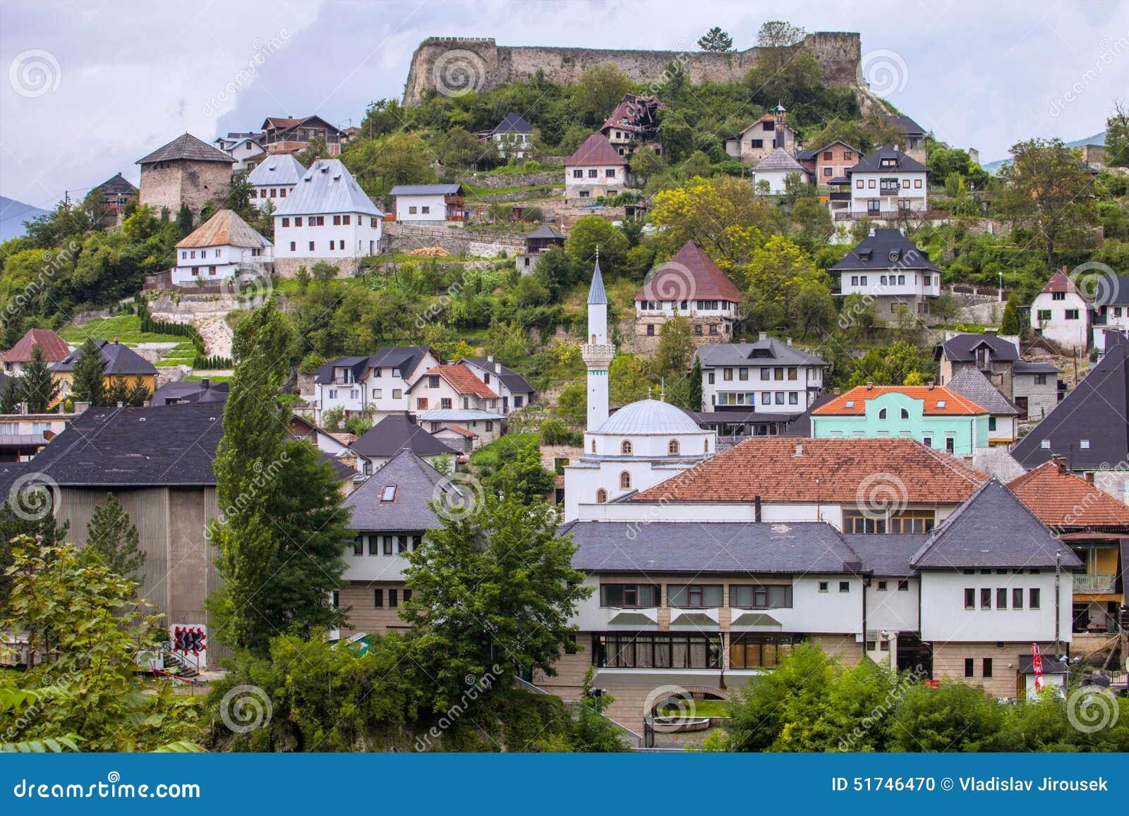 ansicht der stadt jablanica bosnien herzegovina stockfoto bild von haupts chlich tourist. Black Bedroom Furniture Sets. Home Design Ideas